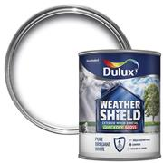 Dulux  Dulux Weathershield Quick Dry Satin Pure Brilliant White Paint (750ml)