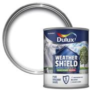 Dulux  Dulux Weathershield Quick Dry Satin Pure Brilliant White Paint (2.5 Litre)