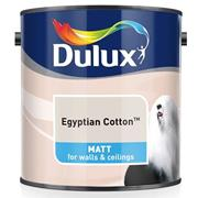 Dulux  Dulux Matt Egyptian Cotton White Paint (2.5 Litre)