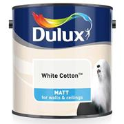 Dulux  Dulux Matt White Cotton Paint (2.5 Litre)