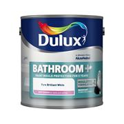 Dulux  Dulux EasyCare Bathroom+ Pure Brilliant White Paint (1 Litre)