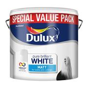 Dulux  Dulux Pure Brilliant White Rich Matt Paint (6 Litre)