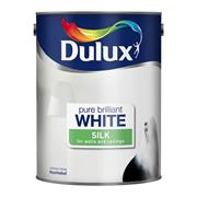 Dulux  Dulux Pure Brilliant White Luxurious Silk Paint (3 Litre)