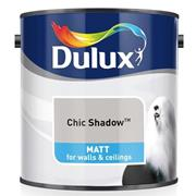 Dulux  Dulux Matt Chic Shadow Grey Paint (2.5 Litre)