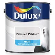 Dulux  Dulux Matt Polished Pebble Grey Paint (2.5 Litre)