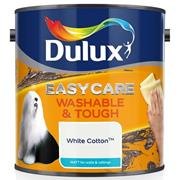 Dulux  Dulux Easycare Washable & Tough Matt White Cotton Paint (2.5 Litre)