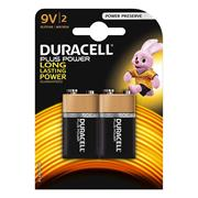 Duracell 9VK2P Plus Power 9v Battery - Pack of 2