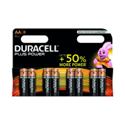 Duracell AABAT Plus Power AA Batteries - Pack of 8