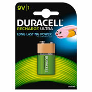 Duracell HR22B1 Recharge Ultra 9V Battery Pack of 1