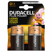 Duracell MN1300B2 Plus Power D Batteries Pack of 2