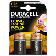 Duracell MN1400B2 Duracell Plus Power C Batteries Pack of 2