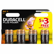 Duracell MN15005-3 Duracell Plus Power AA Batteries Pack of 8