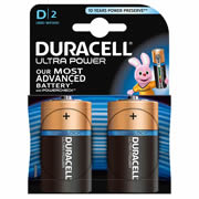 Duracell MX1300B2 Duracell Ultra Power D Batteries Pack of 2