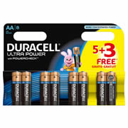 Duracell MX1500B5-3 Duracell Ultra Power AA Batteries Pack of 8