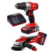 Einhell 4257211 18v 2 Piece Kit with 1 x 1.5Ah and 1 x 3Ah Batteries, Charger and Case