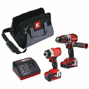 Einhell 18V Brushless Twin Pack Einhell 18V Brushless 2 Piece Impact Driver & Drill Driver with 2x Batteries, Case & Charger