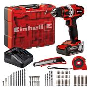 Einhell TE-CD 18/40 Li + 69 Einhell TE-CD 18/40 Li + 69 18V Drill Driver with Accessories Kit & 1x 2.5Ah Battery, Charger Case