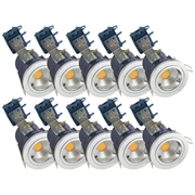 Electralite ELA-27465-CHRPK10 Electralite Fire Rated Downlight Chrome - Fixed Pack of 10
