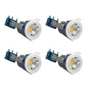 Electralite 27465CHRPK4 Electralite Fire Rated Downlight Chrome Fixed - Pack of 4