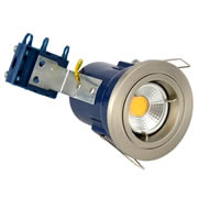 Electralite ELA-27465-SCHR Electralite Fire Rated Downlight Satin Chrome - Fixed