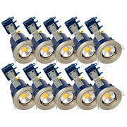 Electralite ELA-27465-SCHRPK10 Electralite Fire Rated Downlight Satin Chrome - Fixed Pack of 10