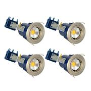 Electralite 27465SCHPRK4 Electralite Fire Rated Downlight Satin Chrome Fixed - Pack of 4