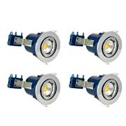 Electralite 27466CHRPK4 Electralite Fire Rated Downlight Chrome Adjustable - Pack of 4