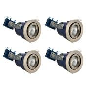 Electralite 27466SCHRPK4 Electralite Fire Rated Downlight Satin Chrome Adjustable - Pack of 4