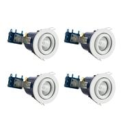 Electralite 27466WHTPK4 Electralite Fire Rated Downlight White Adjustable - Pack of 4
