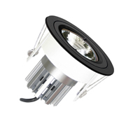 EMCO EMC017SGUB Die Cast Round Fixed Downlight for 35mm MR11 LEDs - Black