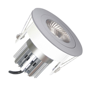 EMCO EMC017SGUSS Die Cast Round Fixed Downlight for 35mm MR11 LEDs - Satin Silver