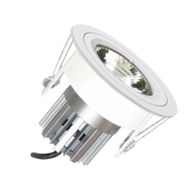 EMCO EMC017SGUW Die Cast Round Fixed Downlight for 35mm MR11 LEDs - White