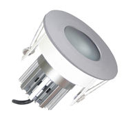 EMCO EMC024PGUSS Die Cast Round Fixed IP65 Rated Downlight for MR16 LEDs - Satin Silver