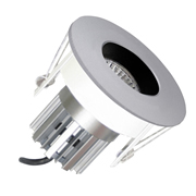 EMCO EMC026GUSS EMCO Die Cast Gimbal Low Profile Downlight with Recessed Baffle for MR16s - Satin Silver
