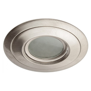 EMCO EMC028GUMW EMCO Die Cast Gimbal Low Profile Downlight IP44 Rated with Recessed Baffle for GU10s - White