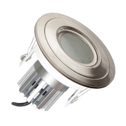 EMCO EMC028GUSS EMCO Die Cast Gimbal Low Profile Downlight IP44 Rated with Recessed Baffle for GU10s - Satin Silver