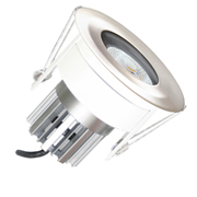 EMCO CDFRLED838SS Fire Rated Downlight IP65 8.5w 3000K 38° - Satin Silver