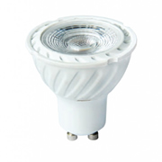 EMCO COBGU7DCW 7w GU10 50mm LED Lamp 6000K Dimmable