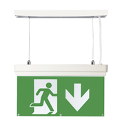 EMCO EMLEDXBMLG2 LED Emergency Exit Sign 4 Mounting Options - Down Arrow