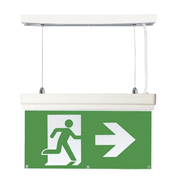 EMCO EMLEDXBMLG3 EMCO LED Emergency Exit Sign 4 Mounting Options - Right Arrow