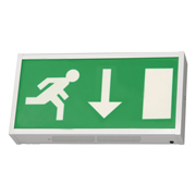 EMCO EMLEDXMLG2 EMCO LED Emergency Exit Box - Down Arrow