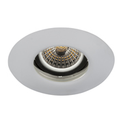 EMCO FRLEDGSS EMCO Fire Rated & IP65 Gimbal Downlight for GU10s - Satin Silver