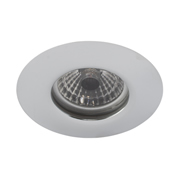 EMCO FRLEDSS EMCO 100min Fire Rated & IP65 Fixed Downlight for GU10s - Satin Silver