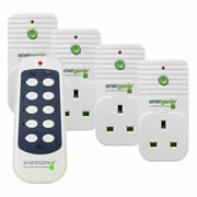 Energenie ENER002-4 MiHome Pack of 4 Remote Controlled Sockets