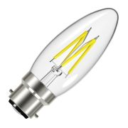 Energizer S12855 LED 5W B22 Candle Filament 470Lm 2700K Light Bulb