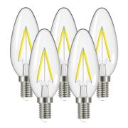 Energizer S12856 Energizer LED 5W E14 Candle Filament 470Lm 2700K Light Bulb - Pack of 5