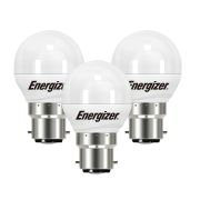 Energizer  B22 Opal Golf Ball 470Lm 2700K Light Bulb - Pack of 3