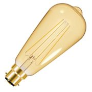 Energizer S9432 LED 4W B22 ST64 Filament Gold 470Lm 2200K Light Bulb