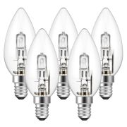 Eveready  Eveready Eco Candle 46W(60W) E14 Light Bulb - Pack of 5