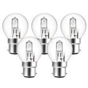 Eveready  Eco Golf 48W(60W) B22 Light Bulb - Pack of 5